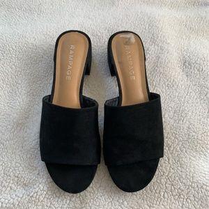 Black Block Heels / Sandals by Rampage